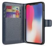 BeHello Wallet iPhone X hoesje Blauw