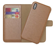 BeHello 2 in 1 Wallet iPhone X hoesje Bruin