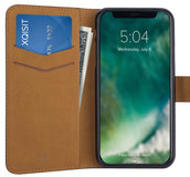 Xqisit Slim Wallet iPhone X hoesje Zwart