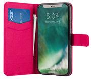 Xqisit Viskan Wallet iPhone X hoesje Roze