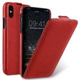 Melkco Leather Jacka iPhone X hoesje Rood