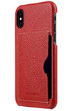 Melkco Leather Backcover iPhone X hoesje Rood