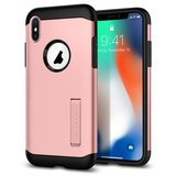 Spigen Slim Armor iPhone X hoesje Rose