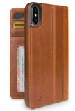 Twelve South Journal iPhone X Wallet hoesje Cognac