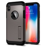 Spigen Tough Armor iPhone X hoesje Gun Metal