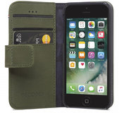 Decoded Leather Wallet iPhone SE/5S hoesje Groen