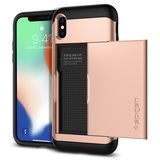 Spigen Slim Armor CS iPhone X hoesje Rose Blush