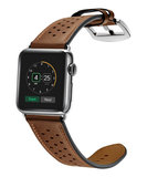 TechProtection Leather Apple Watch 44 / 42 mm bandje Bruin