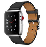 TechProtection Leather Apple Watch 44 / 42 mm bandje Zwart