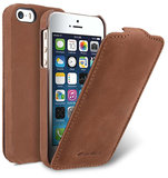 Melkco Leather Jacka Flip iPhone SE/5S hoesje Bruin