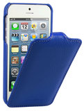 Melkco Leather Jacka Flip iPhone SE/5S hoesje Blauw