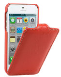 Melkco Leather Jacka Flip iPhone SE/5S hoesje Rood