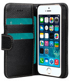 Melkco Leather Wallet iPhone SE/5S hoesje Zwart