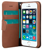 Melkco Leather Wallet iPhone SE/5S hoesje Bruin