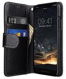 Melkco Leather Wallet iPhone X hoesje Zwart