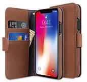 Melkco Leather Wallet iPhone X hoesje Bruin
