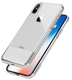 Caudabe Lucid Clear iPhone X hoesje Zilver