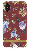 Richmond Finch Marble iPhone X hoesje Floral Rood