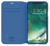 Adidas Booklet iPhone X hoesje Blauw