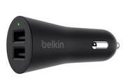 Belkin Boost Up Dual auto oplader 24 watt Zwart