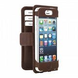 Bugatti Open Bookcase wallet iPhone 5/5S Brown