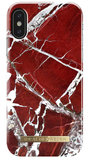 iDeal of Sweden iPhone X hoesje Marble Rood