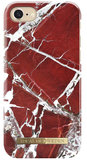iDeal of Sweden iPhone 8/7 hoesje Marble Rood