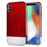 Spigen Classic C1 iPhone X hoesje Ruby Rood
