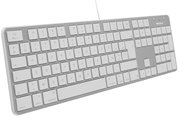 MacAlly SLIMKEY Wired Azerty aluminium toetsenbord Zilver