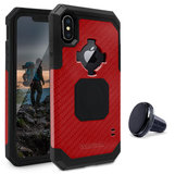 Rokform Rugged iPhone X hoesje Rood