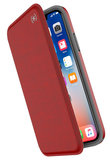 Speck Presidio Folio iPhone X hoesje Rood