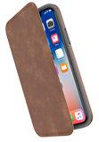 Speck Presidio Leather Folio iPhone X hoesje Bruin