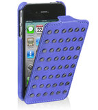 Decoded Leather Flip Studs Case iPhone 4/4S Blue
