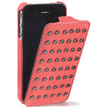 Decoded Leather Flip Studs Case iPhone 4/4S Pink