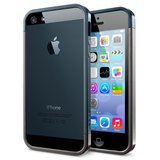 Spigen SGP Linear EX Metal iPhone 5 bumper Gunmetal