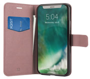 Xqisit Viskan Wallet iPhone XS Max hoesje Rose