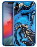 LAUT Mineral Glass iPhone Xs Max hoesje Blauw