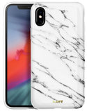 LAUT Huex Marble iPhone Xs Max hoesje Wit