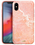 LAUT Huex Marble iPhone Xs Max hoesje Roze