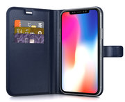 BeHello Gel Wallet iPhone Xs Max hoesje Blauw