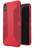 Speck Presidio Grip iPhone Xs Max hoesje Rood