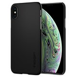 Spigen Thin Fit iPhone XS hoesje Zwart
