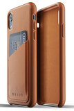 Mujjo Leather Wallet iPhone XR hoes Tan