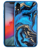 LAUT Mineral Glass iPhone XR hoesje Blauw