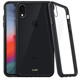 LAUT Accents Glass iPhone XR hoesje Zwart