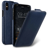 Melkco Leather Jacka iPhone XS Max hoesje Blauw