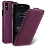 Melkco Leather Jacka iPhone XS Max hoesje Paars