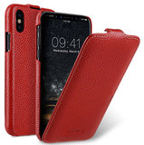 Melkco Leather Jacka iPhone XS Max hoesje Rood