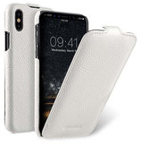 Melkco Leather Jacka iPhone XS Max hoesje Wit