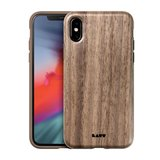 LAUT Pinnacle Wood iPhone XS hoesje Bruin